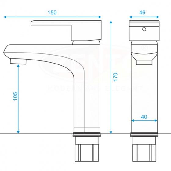 Vòi lavabo nóng lạnh Zento ZT2209