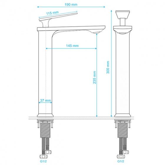Vòi lavabo dương bàn Delta Series ZT2152-W+C