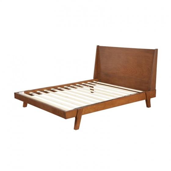 Giường đôi Oglet gỗ sồi 1m6