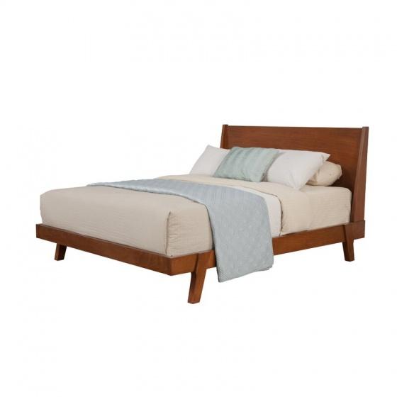 Giường đôi Oglet gỗ sồi 1m8