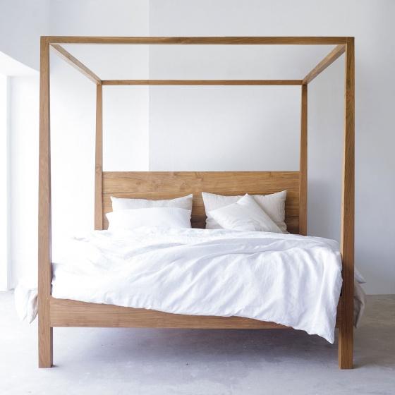 Giường đôi Poster gỗ sồi 2m0