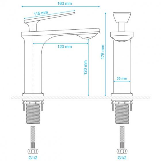 Vòi lavabo nóng lạnh Delta Series ZT2142-W+G