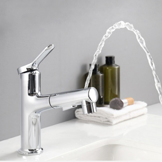 Vòi lavabo nóng lạnh Pull down Spray ZT2131-1C