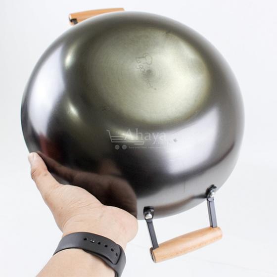 Chảo gang 32cm sâu lòng La Gourmet Nitrigan - Châu Âu