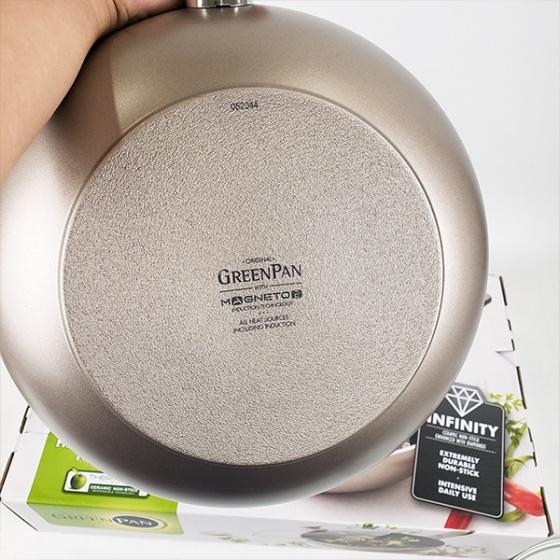 Chảo chống dính sâu lòng 28cm GreenPan (tặng nắp + hộp) - Vương Quốc Bỉ