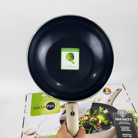 Chảo chống dính sâu lòng 28cm (tặng nắp) GreenPan - Vương Quốc Bỉ