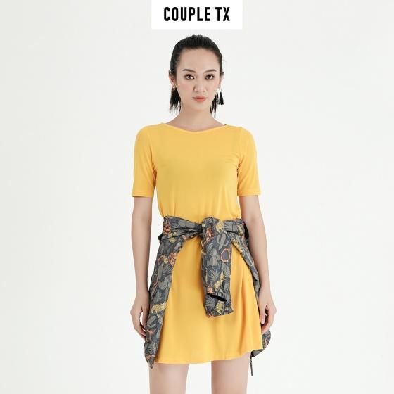 Đầm nữ suông vàng Couple TX WDR 4010