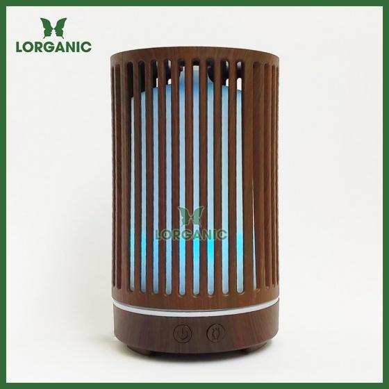 Combo máy khuếch tán, máy xông tinh dầu Lorganic trụ sọc FX2063 + tinh dầu cam hương Lorganic (10ml)