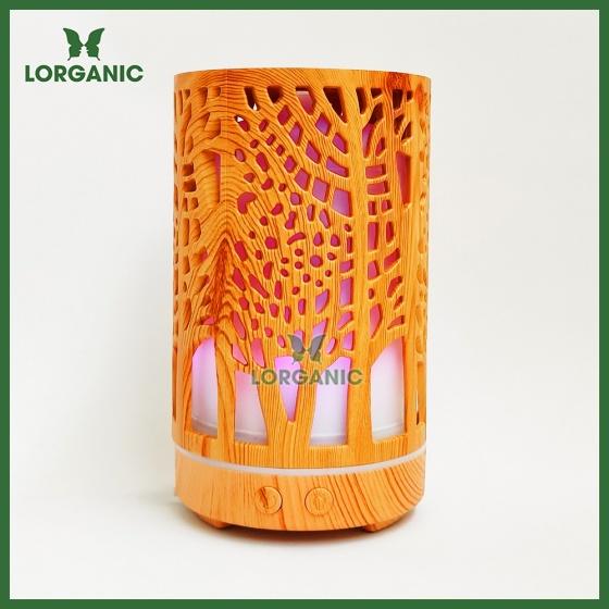 Combo máy khuếch tán, máy xông tinh dầu Lorganic hình trụ cây FX2064 + tinh dầu cam hương Lorganic (10ml)