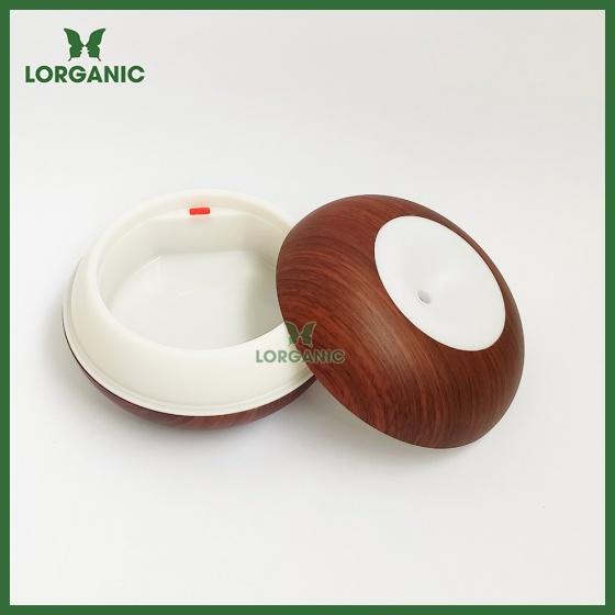 Combo máy khuếch tán, máy xông tinh dầu Lorganic hình bánh donut FX2067 + tinh dầu cam hương Lorganic (10ml)