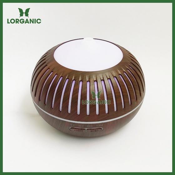 Combo máy khuếch tán, máy xông tinh dầu Lorganic hình bí sọc FX2068 + tinh dầu cam hương Lorganic (10ml) - Có remote.