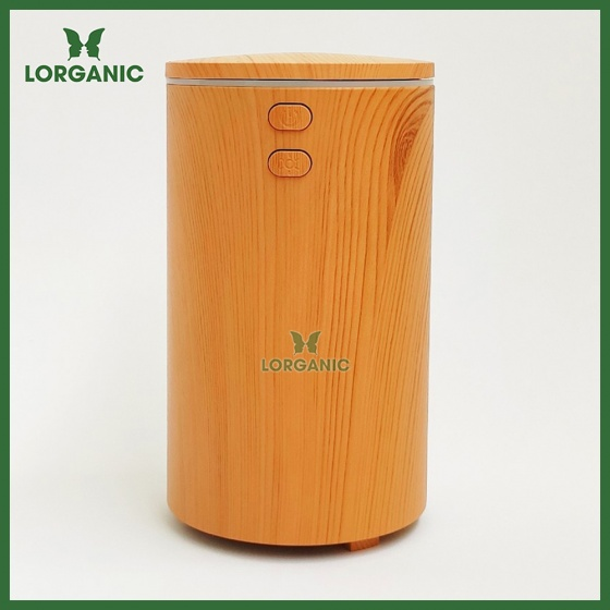 Combo máy khuếch tán, máy xông tinh dầu ô tô (xe hơi) Lorganic FX2069 + tinh dầu cam Lorganic (10ml). Cáp sạc USB.