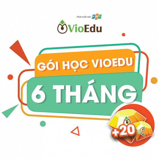 Gói học toán VioEdu 6 tháng cho học sinh lớp 1 đến 9