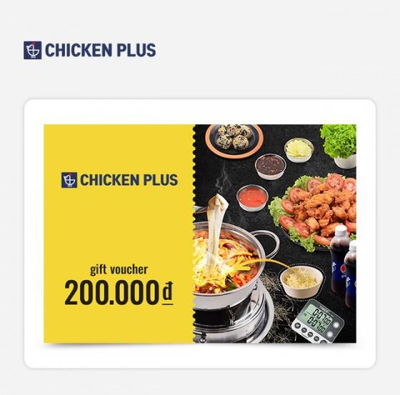 Phiếu quà tặng Chicken Plus 200.000 VND