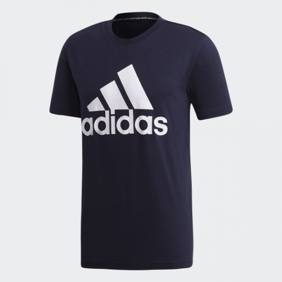 Áo phông Adidas chính hãng MUST HAVES BADGE OF SPORT NavyWhite JapanSport  DT9932