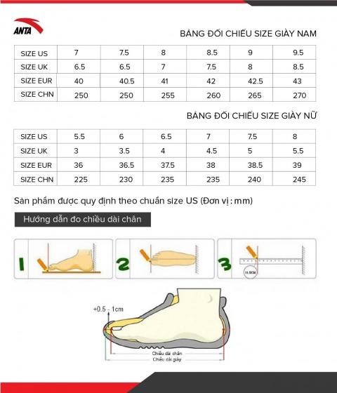 Giày chạy thể thao nữ Anta 822035572S-1