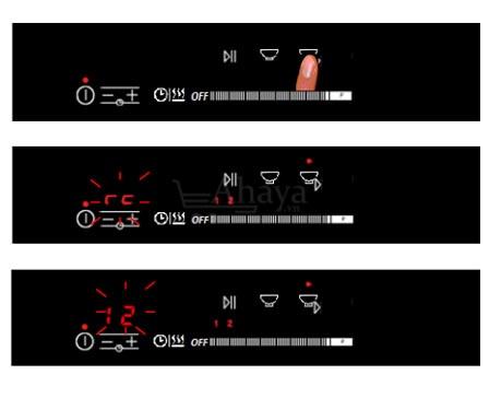 Bếp cảm ứng từ 2 vùng nấu Tomate TOM 02I-8G LUX - Nội địa Tây Ban Nha