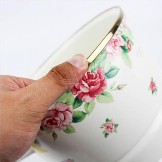 Nồi hấp tráng men Fujihoro Nhật Bản Bông hoa 24cm (IRV24SM)