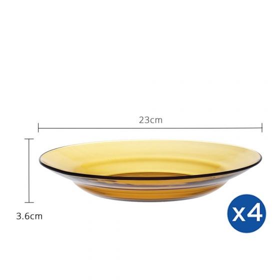 Bộ 4 dĩa sâu lòng thủy tinh chịu lực Duralex Pháp Lys 23cm