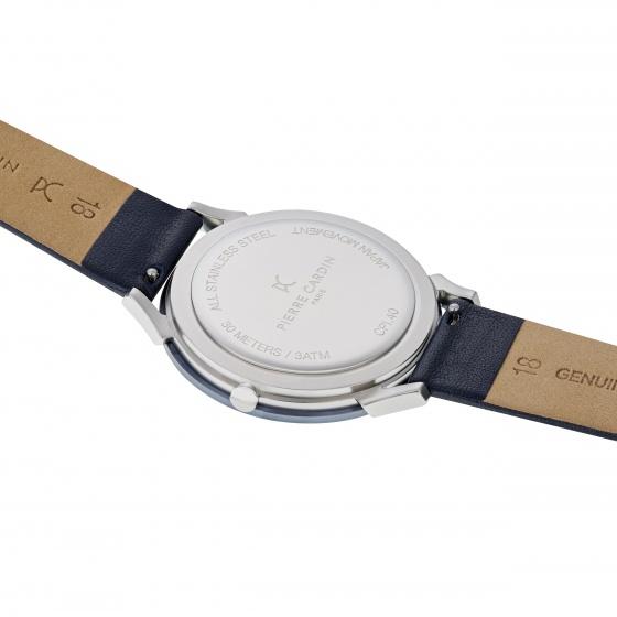 Đồng hồ nam Pierre Cardin CPI.2017 chính hãng bảo hành 2 năm toàn cầu - Máy pin dây da