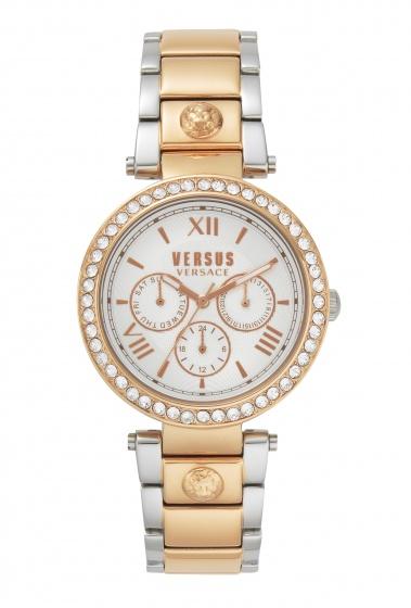 Đồng hồ Nữ Versus VSPCA1218 cao cấp chính hãng bảo hành toàn cầu - Máy Pin - Dây thép màu demi vàng hồng- trắng