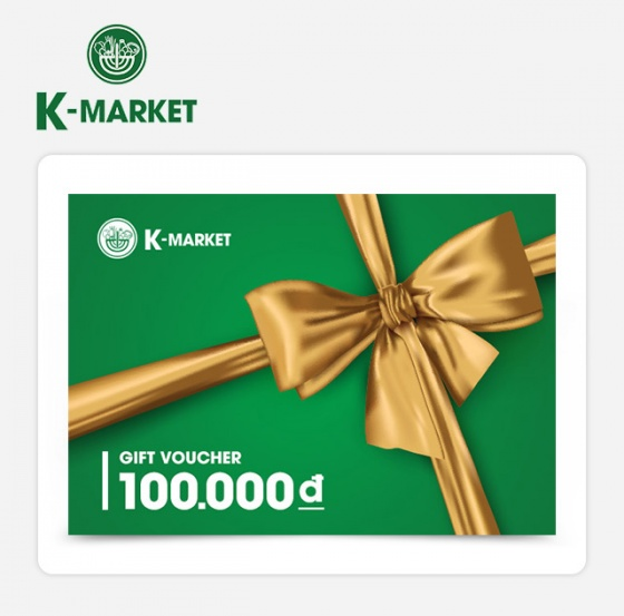 Phiếu quà tặng K-Market 100k