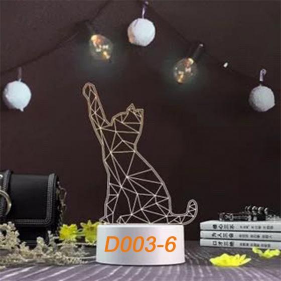 Đèn Ngủ Trang Trí LED 3D Mẫu Mới Tâm House D003-6