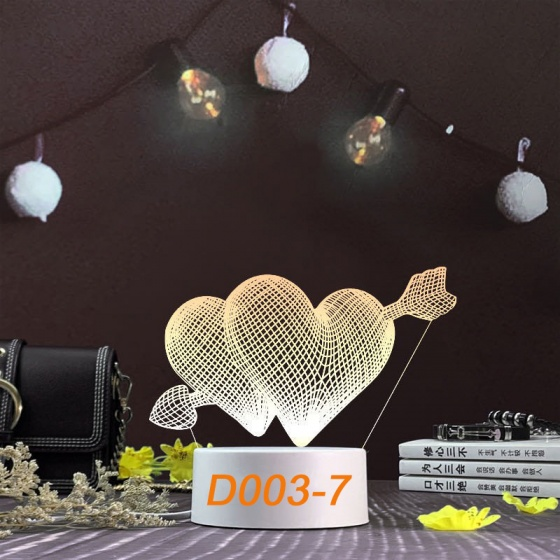 Đèn Ngủ Trang Trí LED 3D Mẫu Mới Tâm House D003-7