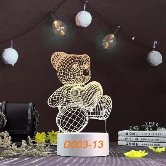 Đèn Ngủ Trang Trí LED 3D Mẫu Mới Tâm House D003-13