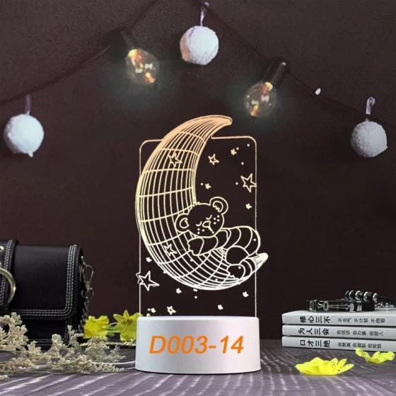 Đèn Ngủ Trang Trí LED 3D Mẫu Mới Tâm House D003-14