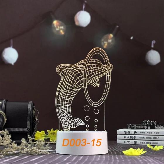 Đèn Ngủ Trang Trí LED 3D Mẫu Mới Tâm House D003-15