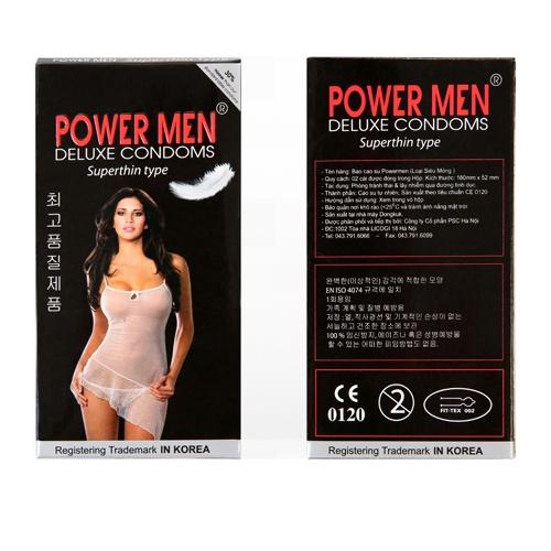 Combo 2 Hộp Bao Cao Su siêu mỏng Powermen Superthin 24 chiếc + Tặng Hộp 3 chiếc BCS xuất tinh sớm3