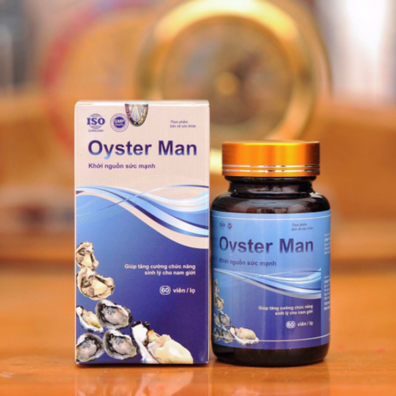 Tinh chất hàu Oyster Man (hộp 60 viên) tăng cường sinh lý, cải thiện yếu sinh lý, xuất tinh sớm