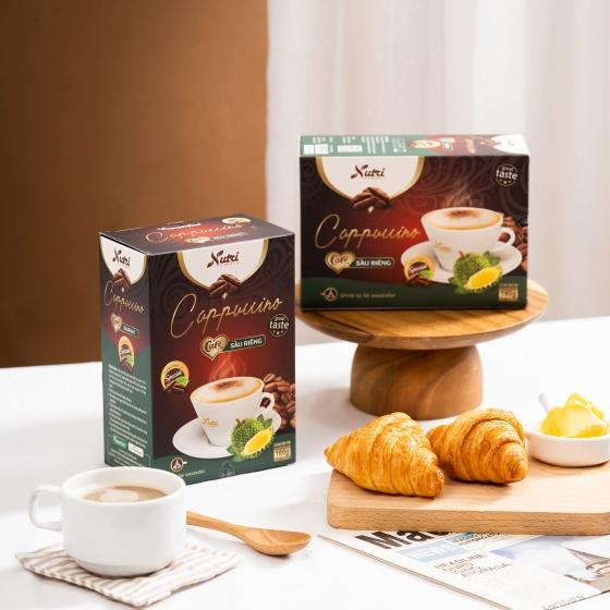 Cà phê capuchino sầu riêng Vinanutrifood C02, hương vị sầu riêng đặc trưng, giúp giải tỏa căng thẳng