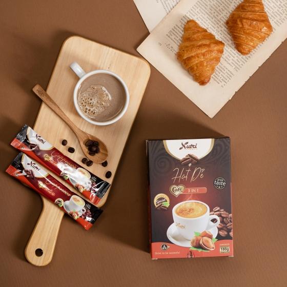 Cà phê Capuchino 3 in 1 Hạt dẻ, cafe hòa tan hương vị đậm đà béo ngậy, khơi dậy sự tỉnh táo