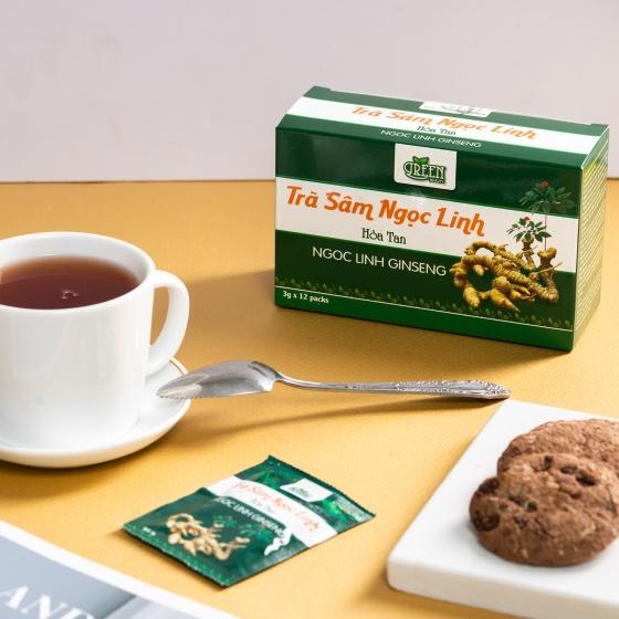 Combo 5 hộp Trà sâm Ngọc Linh Vinanutrifood T01, trà thảo dược chiết xuất từ sâm Ngọc Linh giúp thanh lọc cơ thể