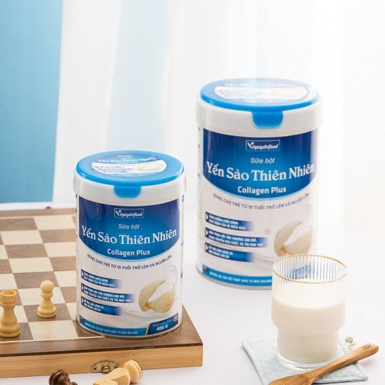 Sữa bột Yến sào thiên nhiên Collagen Plus hỗ trợ hoạt động tiêu hóa, tăng khả năng miễn dịch hộp 900g