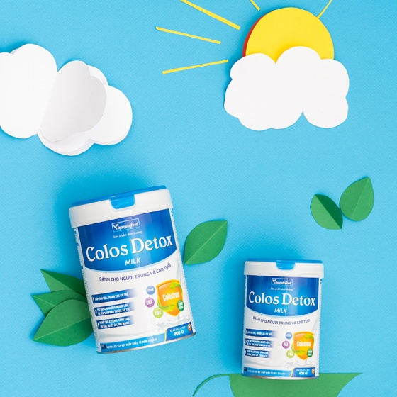 Sữa Colos Detox Milk xanh Vinanutrifood bổ sung dưỡng chất tăng cường sức đề kháng hộp 900g