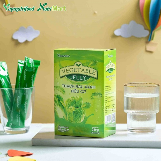 Thạch Rau Xanh Hữu Cơ Vinanutrifood - Bổ sung chất xơ từ rau xanh dưới dạng thạch, ngon dễ sử dụng