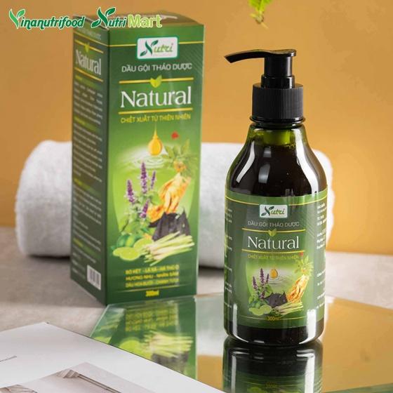 Dầu gội thảo dược Natural, Phục hồi tóc hư tổn, cải thiện tình trạng tóc gãy rụng phù hợp với mọi da đầu
