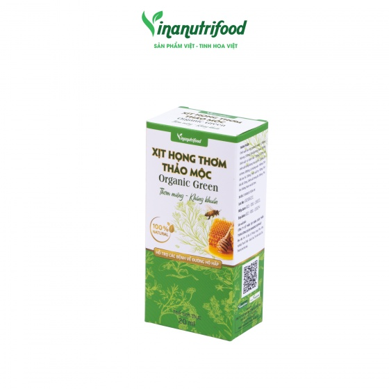 Combo 5 chai Xịt họng thơm thảo mộc Organic Green