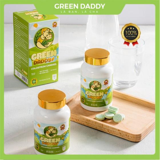 Kẹo sữa non Green Daddy Colostrum Candies dành cho trẻ biếng ăn, đề kháng kém, lười uống sữa, giúp tăng sức đề kháng