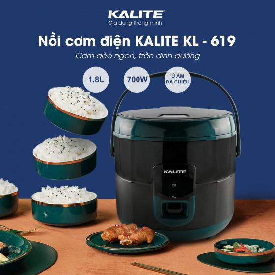 Nồi cơm điện Kalite KL 619 -Tặng 3 bình thủy tinh cao cấp UNIE UN-100