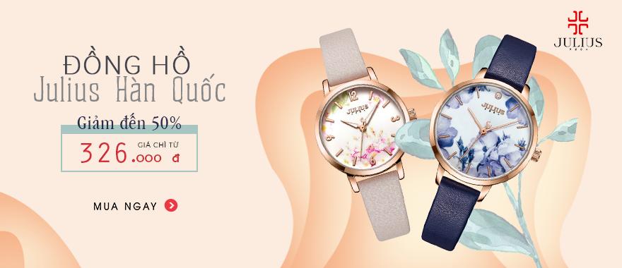 Đồng hồ Julius Hàn Quốc - Chỉ từ 326.000 Đ.