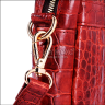 Túi xách da cá sấu Huy Hoàng hộp vuông màu nâu đỏ HV6202