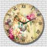 Đồng hồ tranh gỗ tròn - R0111