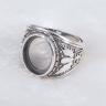 Đế nhẫn bạc Thái handmade 12x15mm Hadosa