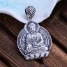 Mặt dây chuyền bạc nam Phật A Di Đà handmade
