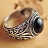 Nhẫn bạc nam đá Onyx đen size 9