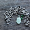 Móc khóa 12 con giáp cẩm thạch tuổi Tỵ - Ngọc Quý Gemstones
